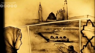 Baqi' cemetery drawn by sand